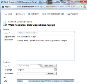SDK Operations JScript