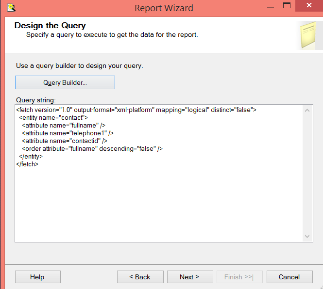 Step 9 - Query String