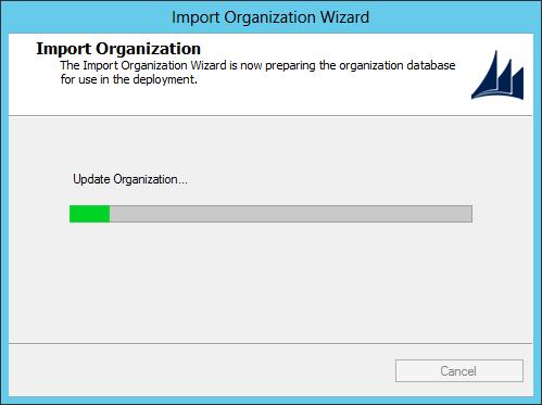 Import CRM Organization - Import Organization Wizard