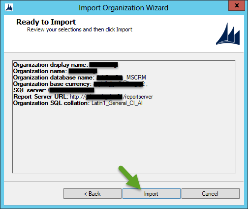 Import CRM Organization - Ready to Import