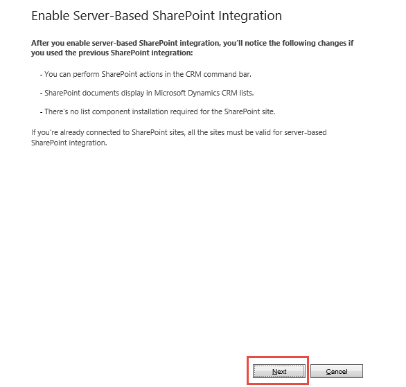 59.12.Enable Server-Based SharePoint Integration
