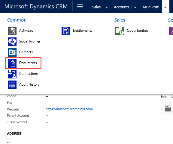 59.21.CRM Document Associated View in Account