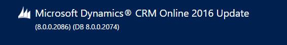 CRM 2016 Online Update