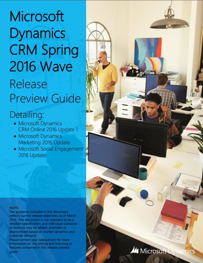 Microsoft Dynamics CRM Spring 2016 Wave