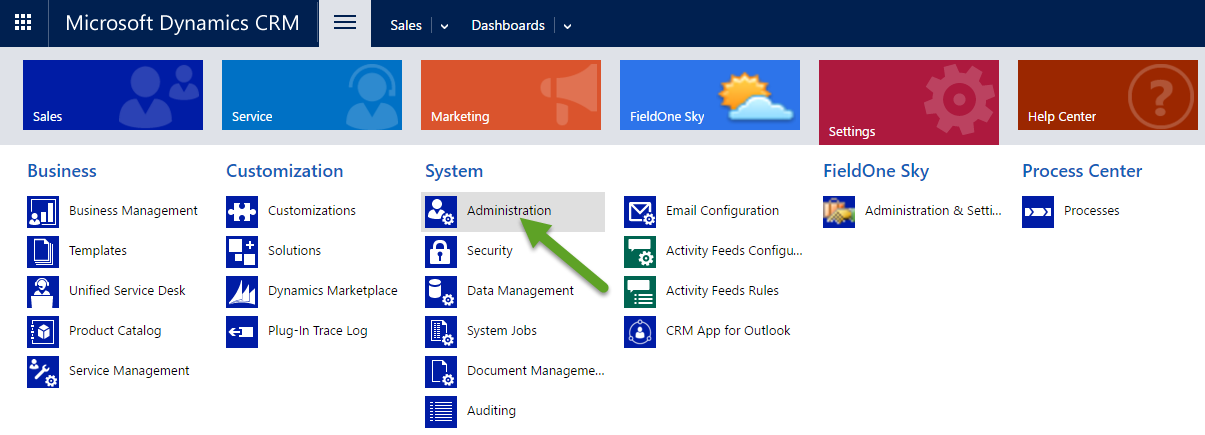 CRM System Administration