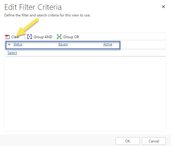 Step 2 - 5.Clear Filter Criteria
