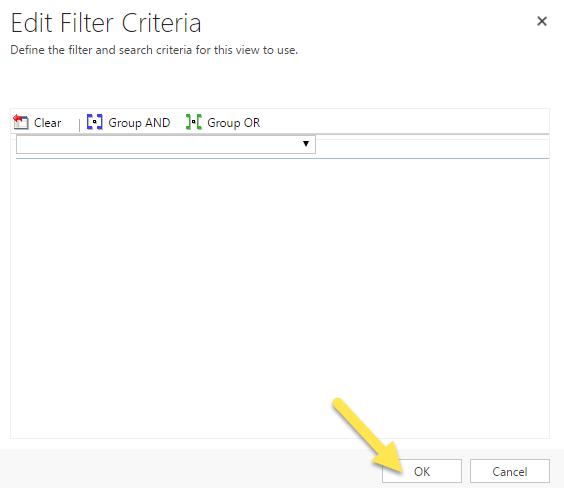 Step 2 - 6. Cleared Filter Criteria