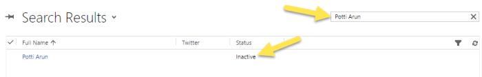 Step 5 - Inactive Contact record