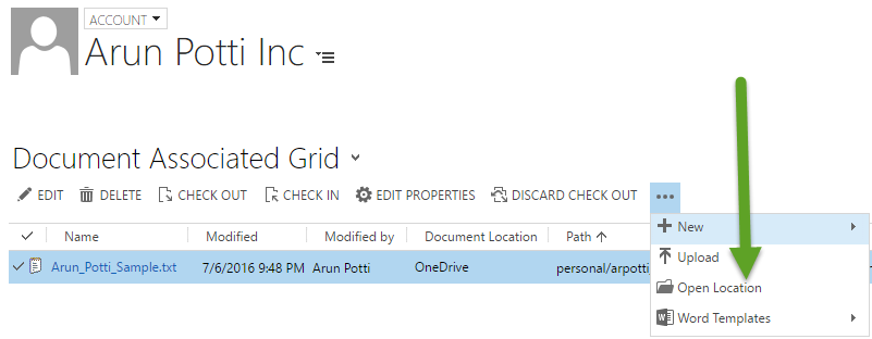 Attachments in Document Associated Grid