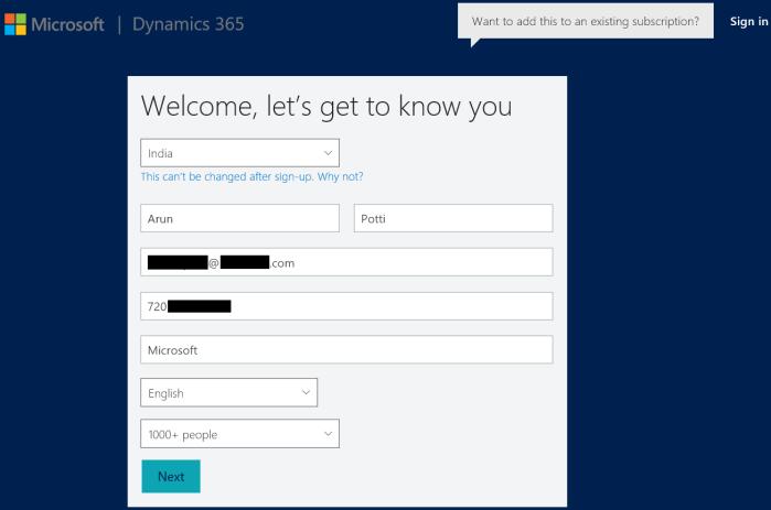Dynamics CRM 365 - Setup 1