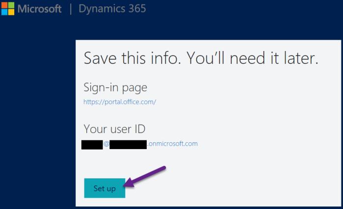 Dynamics CRM 365 - Setup 6