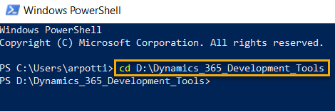 Windows Powershell Command to Change Directory