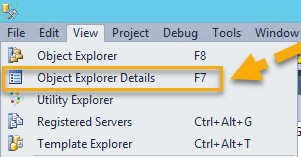 Disk Usage by Table - View Object Explorer Details
