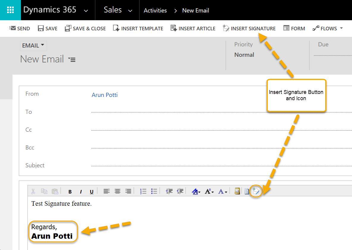 Email Signatures - Insert Signature in Email