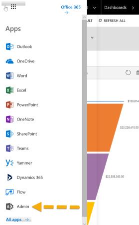 Dynamics 365 - App Launcher - Admin App