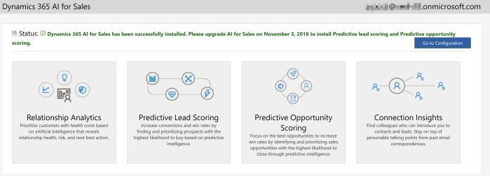 Dynamics 365 - Sales AI - Installation - Success
