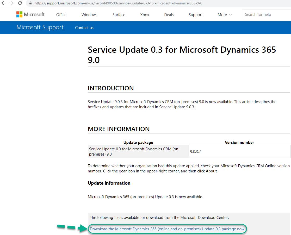 Microsoft Dynamics 365 9 0 3 7 – Cumulative update available