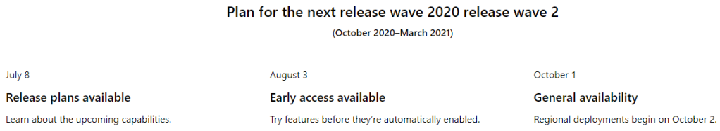 Release 2020 wave 2